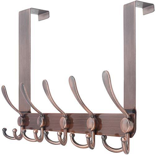 SKOLOO Over The Door Hook 5 Tri Hooks, Stainless...