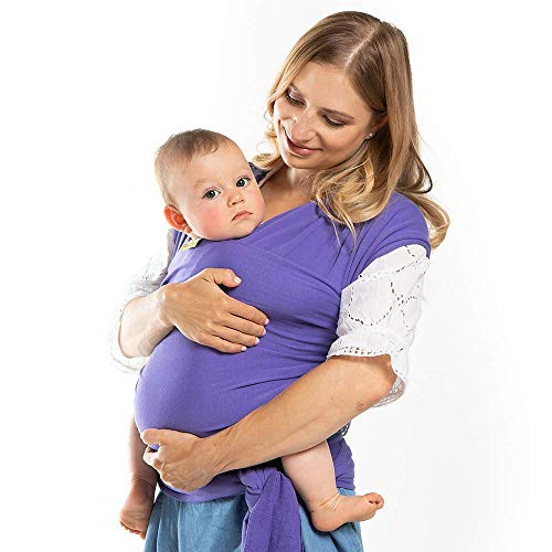 Boba Wrap, Fular Elástico Portabebé Ergonómico - Ideal Porteo Recién Nacidos (Purple)