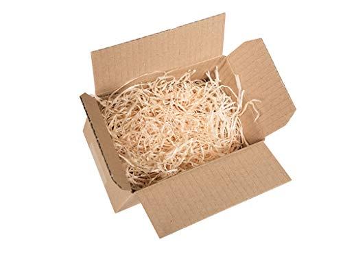 Holzwolle Fichte natur im 1kg Beutel, Füllmaterial, Osternestmaterial, Füllmaterial für Präsentkörbe (natur)
