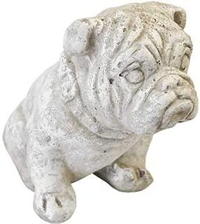 Athens Small Bulldog Statue, Marble Tone