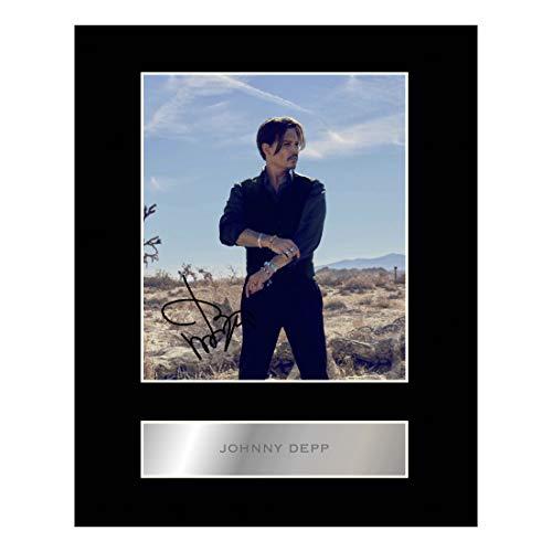 Foto mit Autogramm von Johnny Depp  #1, mit Passepartout, Geschenk, Fotodruck
