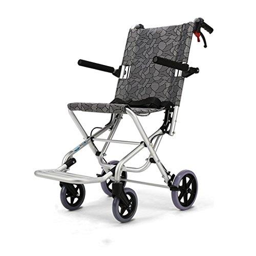 Kinderrollstühle Zusammenklappbarer Rollstuhl for Ältere Menschen Tragbarer Rollstuhl Multifunktionswagen Reiseroller, Tragfähigkeit 150 Kg