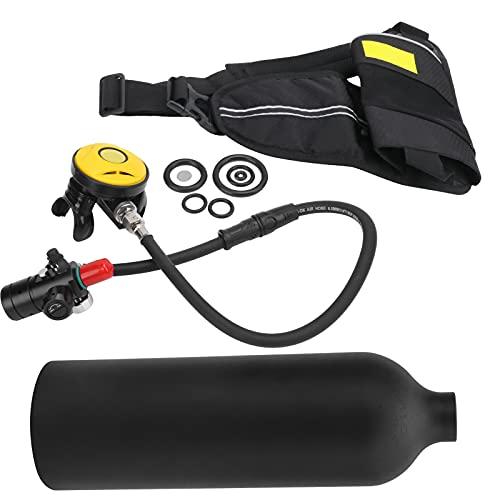 Kit de tanque de buceo, equipo de snorkel resistente al agua y a la corrosión a prueba de polvo para buceo(Botella de oxigeno negra)