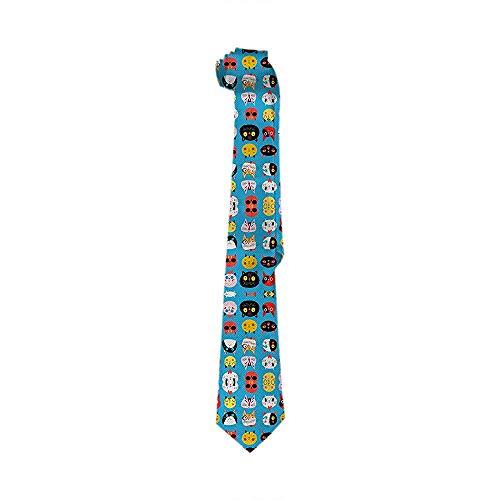 Corbata De Seda Clásica Con Corbata De Negocios Para Hombre Corbatas Multicolores Brillantes Con Cara De Gato