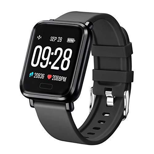 Tipmant Smartwatch Fitness Armband Uhr mit Pulsmesser Blutdruckmessung Fitness Tracker Wasserdicht IP68 Fitness Uhr Schrittzähler Pulsuhr Sportuhr für Damen Herren Kinder für ios iPhone Android