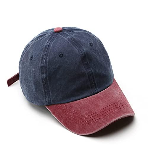 YIERJIU Gorra Gorras Beisbol Gorra de béisbol de Moda para Hombres y Mujeres Gorras de algodón Lavado Sombreros de Verano para el Sol Sombrero Snapback Informal Unisex,F