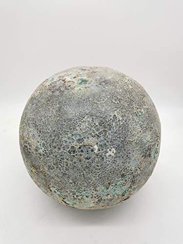 Teramico Dekokugel Gartenkugel glasiert -Blau, Grün, Anthrazit, Türkis, Aqua- sehr hochwertig frostfest und witterungsbeständig Steinzeug (28cm, Aqua Moon)