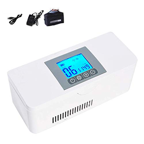 ZYFA Mini-koelkast, draagbaar, trommels, constante temperatuur, koelkast voor auto, geneeskunde, koelbox