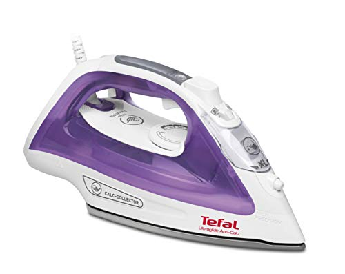 Tefal FV2663 Ultraglide Anti-scale Steam Iron, 2500 W, 270 milliliters, Purple and White