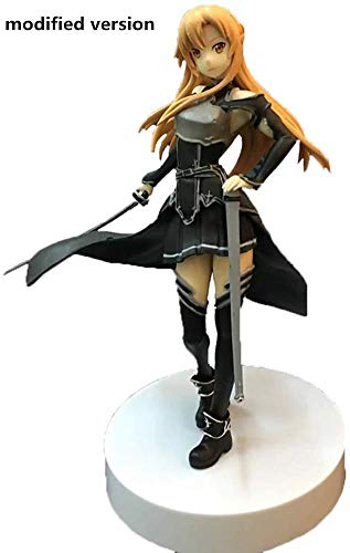 Anime-Modell Asuna Figur, Sword Art Online Figur SAO Anime Girl PVC Spielzeug Modell für Zuhause Auto Dekoration 18 cm Kollektion