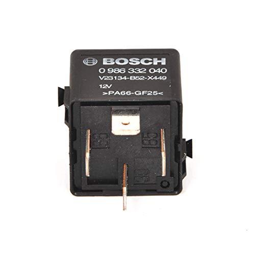 Bosch 0986332040 Mini-Relais 12V 60A, IP5K4, Betriebstemperatur von -40° C bis 85° C, Schließer-Relais, 4 Pins