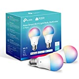 Kasa Smart Light Bulbs, Full Color Changing Dimmable Smart WiFi Bulbs Compatible with Alexa and Google Home, A19, 9W 800 Lumens,2.4Ghz only, No Hub Required, 2-Pack (KL125P2), Multicolor