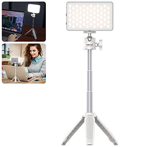 Video Conference Lighting for Remote Working, VIJIM Tabletop Laptop Light for Video Conferencing, MacBook Desk Light for Zoom Call,Self Broadcasting, Live Streaming,Online Meeting,Microsoft Teams