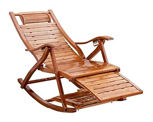 Muebles para el Hogar Al aire libre mecedora muebles de terrazas con ajustable del reposapiés y...