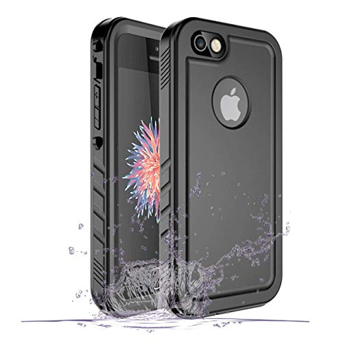 SPORTLINK Custodia Impermeabile per iPhone SE 2016, IP68 Certificato iPhone 5 / iPhone 5s Waterproof Cover Slim Subacquea Caso Case, Non Compatibile con Il Nuovo iPhone SE 2020 (Nero)