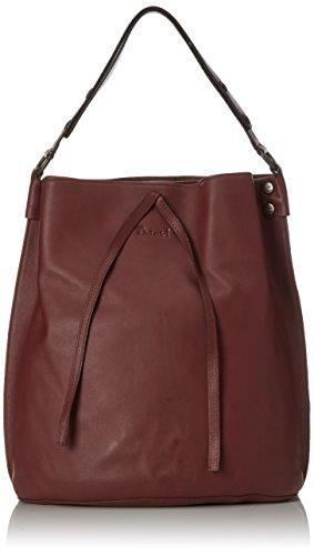 Think! Damen Bag Schultertasche, Rot (Vino 36), 16x38x33 cm