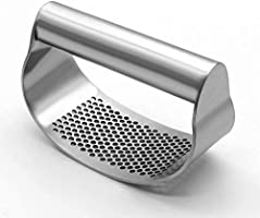 Garlic Press,Household Manual Garlic Mincer Device Kitchen Garlic Chopper Press Rocker,Garlic Press Stainless Steel...