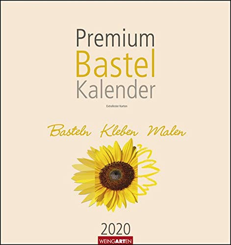 Bastelkalender Champagner 32x34. Wandkalender 2020. Monatskalendarium. Spiralbindung. Format 32 x 34 cm