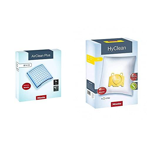Miele KK HyClean Sacchetto per Aspirapolvere, 0 W, 1 Liter, 0 Decibel, Policarbonato & Hepa Active SF-H 10 Filtro per Aspirapolvere, Blue