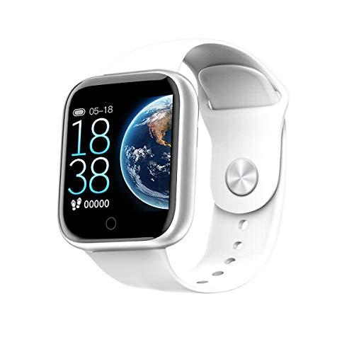 BELLEVUE Smartwatch Armbanduhr Herren und Damen Fitnessuhr Fitness Tracker Schrittzähler Uhrzeit Wasserdicht Smart Watch Sportuhr Fitnessarmband IOS Android Gym Black,White,Rosa