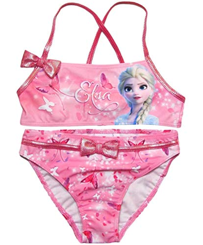 Frozen Bikini Die Eiskönigin Anna und ELSA Tankini (Bikini Rosa, 104-110)