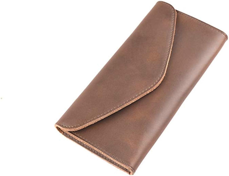 NLJ-YMS Wallet Leder Leder Leder Brieftasche Männer Lange Absatz Einfache Brieftasche Hochwertige Handgefertigte Männer Kupplung B07HXPGHCR d4320c
