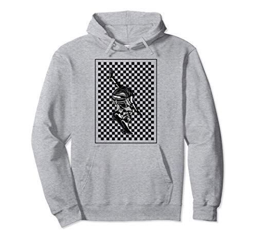 Checker Pattern Checkerboard Skater Patineta adolescente Sudadera con Capucha