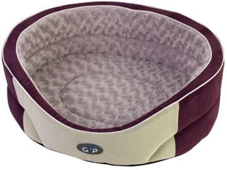 Gor Pets Manhattan Premium Dog Bed Comfortable Washable  18inch (Plum Silver)