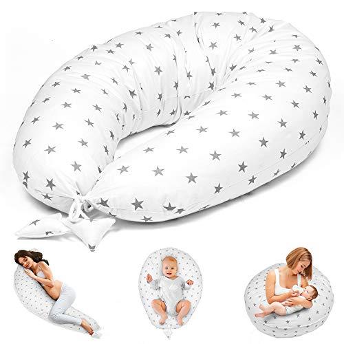 Coussin d'allaitement - Coussin de grossesse pour dormir sur le côté - Coussin de positionnement pour bébé XXL - Certifié Öko-Tex