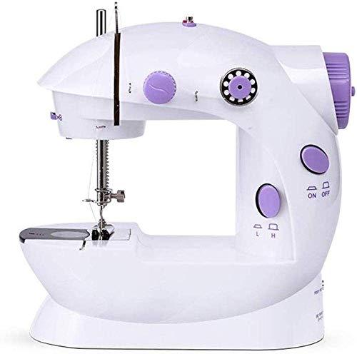 Máquina de coser portable, mini máquina de coser portátil de dos hilos de la máquina de dos velocidades práctico sistema de viaje de los niños de origen dual de la energía serán de coser portátil máqu