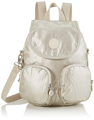 Kipling Damen Firefly Up Rucksack, Gold (Cloud Metal), 22x31x14 centimeters