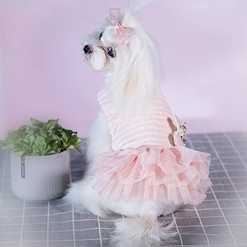 ペット ワンピース 秋冬 猫犬服 ドッグウェア ワンピース セーター スカート ペット ドレス 防寒 小中型犬