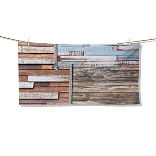 Toallas de Playa y diseño Moderno detallado de Madera Antigua con temática Moderna y agrícola con Tornillos Toallas de baño de Obra de Arte Toallas de Felpa livianas