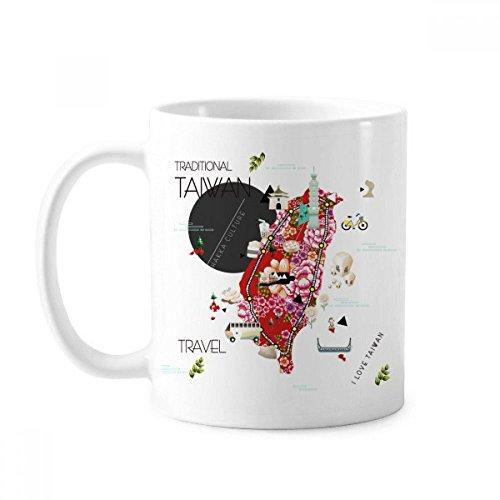 Traditionelle Taiwan Impression Tasse Keramik Kaffee Porzellan Tasse Geschirr
