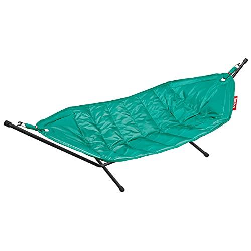 Fatboy® Headdemock   Turquesa   Hamaca Doble con Soporte Resistente al Agua   para jardín y terraza   270 x 138 cm (MAX. 150 kg)