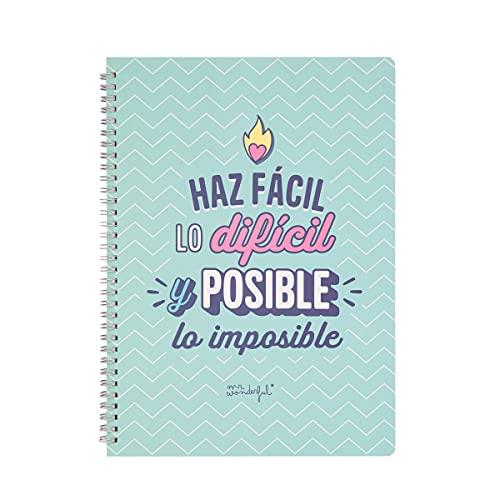 Mr. Wonderful Libreta - Haz fácil lo difícil y posible lo imposible, WOA11058ES