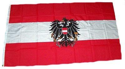 Fahne / Flagge Österreich mit Wappen 60 x 90 cm Flaggen