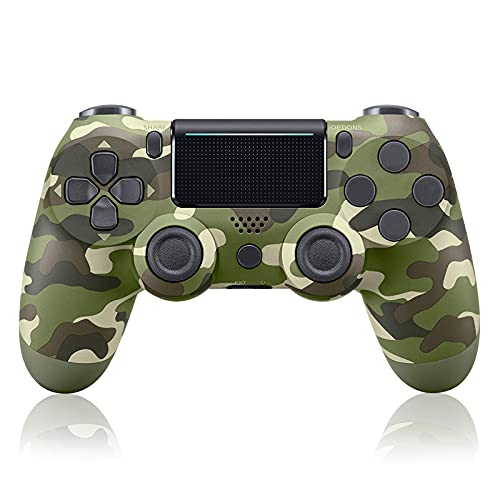 ADHLEK PS-4 Wireless Controller for P-4/Slim/Pro Console,with Dual Vibration Camo Game Joystick Remote
