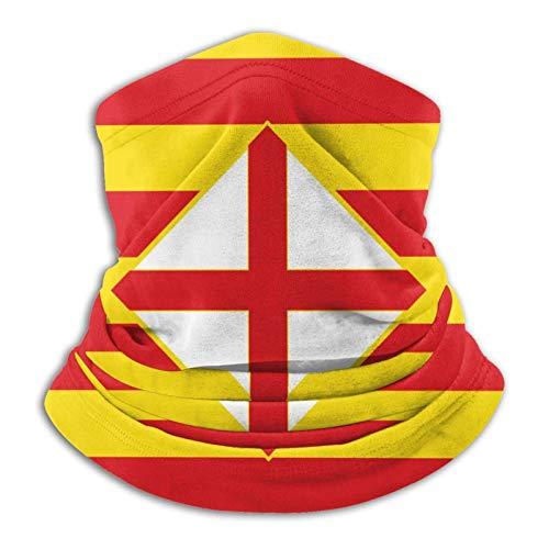 Calentador De Cuello Bandera-Barcelona-Provincia-Estern-Spain-Flag-Barcelona-Printing Sombreros Resistentes Protección Uv Sombreros Cómodo Pañuelo De Cabeza Unisex Pasamontañas Para Hombre Mujer