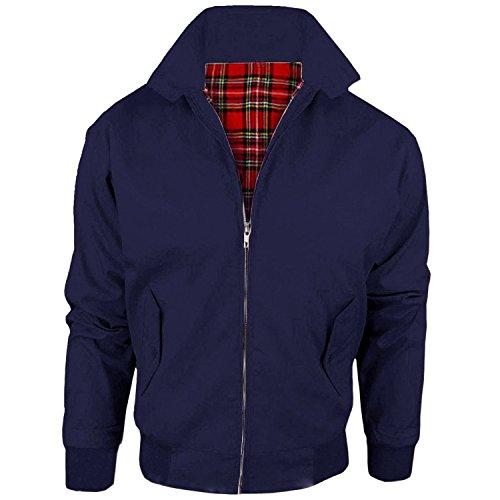 MYSHOESTORE - Chaqueta - chaqueta - Básico - Clásico - Manga Larga - para hombre Azul azul marino Small