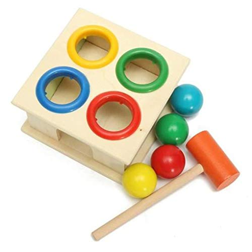 Floridivy Baby Educatief speelgoed hameren Houten Ball Hammer Box Kinderen Early Learning Toy