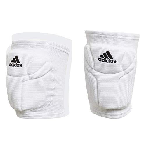adidas unisex-adult Elite Knee Pad White/Black Medium