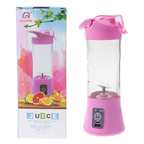 GTC Portable Juicer Blender Bottle with Rechargeable Power Bank and USB Cable (Multicolour)