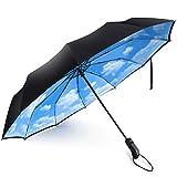Ombrello Antivento,Doppio strato ombrello UV ombrello, Ombrelli classici,Ombrelli pieghevo...