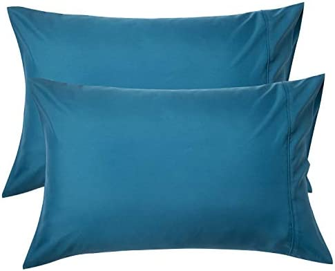 Bedsure Teal Pillowcase Set Queen Size 20 x 30 inches Bed Pillow Cover Brushed Microfiber Wrinkle product image