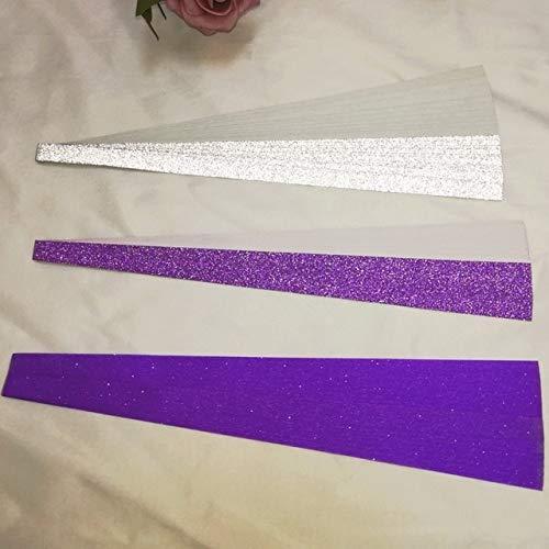 Berrd 60 piezas/por kit de pliegue lucky origami color del arco iris papel perlado puro esperanza estrella tira de papel regalo artesanal de papel - mezcla 60 piezas