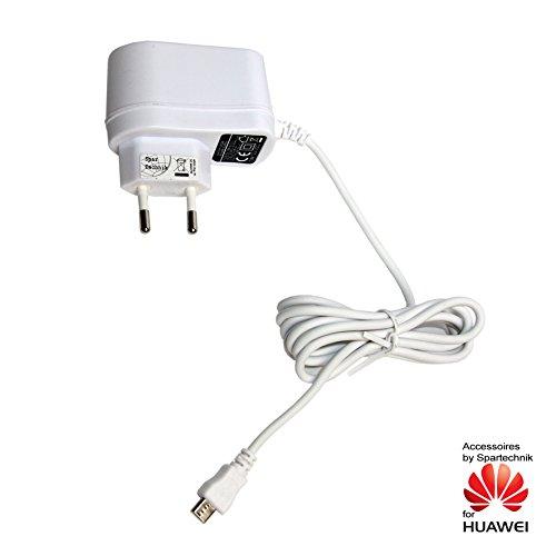 Spartechnik 230V Netzteil für Huawei Ascend Y550. Ladegerät, Reiselader 110-230 Volt weiß