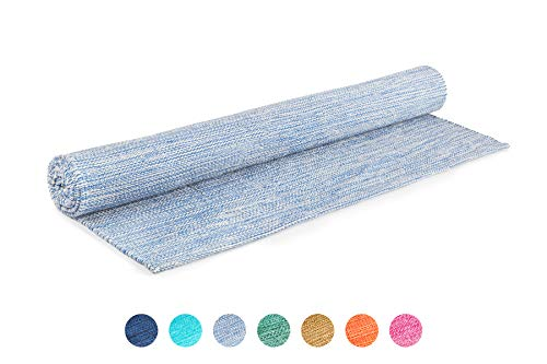 Elephant Yoga Organic Cotton Yoga Rug - Handwoven and Eco Friendly - Ideal for Ashtanga Mysore Hot...