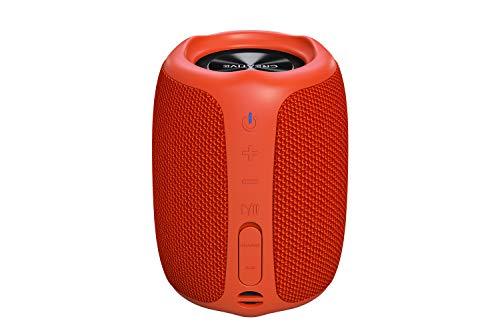 Creative MUVO Play – Portabler Bluetooth-5.0-Lautsprecher, wassergeschützt für den Außenbereich nach IPX7, bis zu 10 Stunden Akkulaufzeit, mit Siri- und Google- Assistent (Orange)