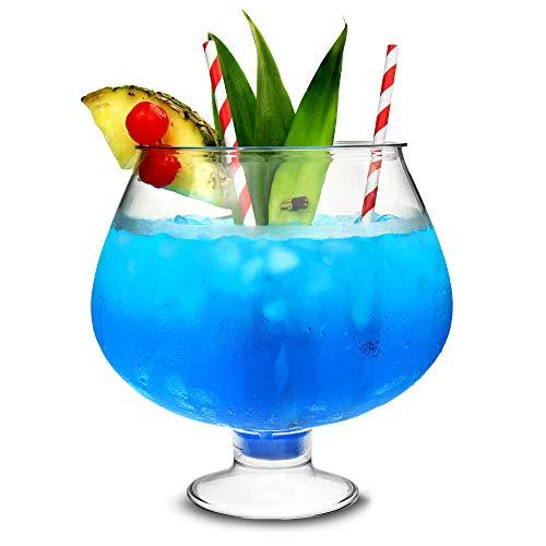 bar@drinkstuff, Cocktailschüssel mit Standfuß, Kunststoff, 2,5 Liter - ungewöhnliches Cocktailgefäß für Partys, Fischglas-Design